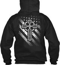 American-irish Flag Gildan Hoodie Sweatshirt