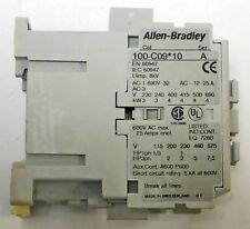 ALLEN BRADLEY 100-C09D10 CONTROL RELAY,SER. A 1NO, 3 POLE,110/120VAC 50/60Hz