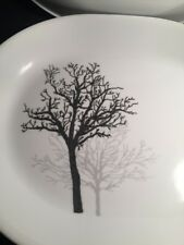 """NEW Corelle PLATTER Timber Shadow Tree Silhouette 12.25"""" oval Serving Dish"""