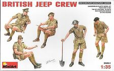 1:35 MiniArt 35051 -  Tropics British Jeep Crew  5 Figure  Model Kit
