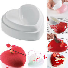 Love Heart 3D Cake Mold Amore Silicone Baking Pastry Chocolate Mousse Pan Mould