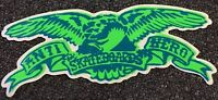 Anti Hero Skateboards Sticker Green Krooked Spitfire Thrasher FA Real Creature