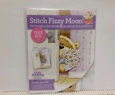 Fizzy Moon -  cross stitch chart / card kit