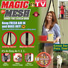 NEW MAGIC MESH DOOR SCREEN HANDS FREE MAGNETIC ANTI BUG INSECT MOSQUITO PETS