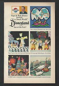 Disney's it's a small world 1964 NY World's Fair PEPSI Attraction AD DISNEYLAND
