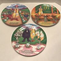 McDonald's Plates 1989 French Fry Garden, Hamburger University, & Milkshake Lake