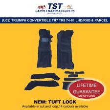 MOULDED CAR CARPETS (U02) TRIUMPH CONVERTIBLE TR7 TR8 74-81 LHD OR RHD & PARCEL