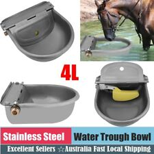 Stainless Water Trough Bowl Automatic Drinking Fr Dog Horse Chicken Auto Fill 4L