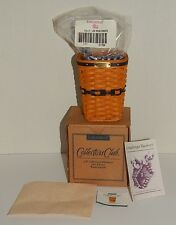 Longaberger 1998 JW Miniature Waste Basket MIB Combo Set with Liner
