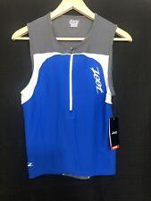 ZOOT - Men's Performance Tri Tank - Triathlon -Vivid Blue - Small
