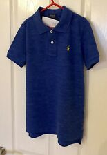 Ralph Lauren Boys Polo Top Short Sleeve Blue Age 7 New With Tags