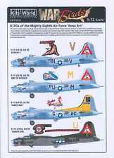 Kits World Decals 1/72 B-17G FLYING FORTRESS NOSE ART 303rd & 487th Bomb Groups