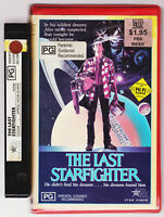 RARE The Last Starfighter VHS Video Tape Vintage CLAMSHELL BIG CASE EX-RENTAL