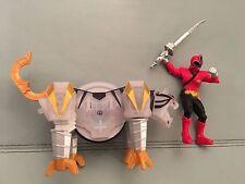 Power Rangers super samurai white tiger zord crystal variant + red ranger