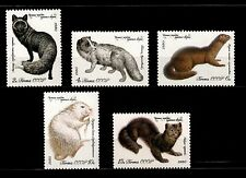 USSR RUSSIA STAMP MNH-OG 1980. Animaux série complète. Animals full set of 5.