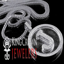 """Diamante Original Letra Inicial Alfabeto """"J"""" Colgante + Cadena 10k"""