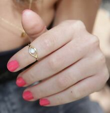 "Evil eye ring, gold ring, stacking ring, Turquoise, opal stone, ""Handmade"",-R001"
