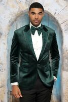 Mens INSOMNIA MANZINI GREEN VELVET SEQUENCE Jacket ENTERTAINER PERFORMER MZV506