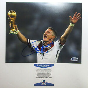 Bastian Schweinsteiger Signed 2014 World Cup 8x10 Photo PROOF BAS B Bayern