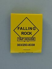 Matches Matchbook <**> FALLING ROCK Tap House ~ Best Beer Bar in the Rocky Mtns.