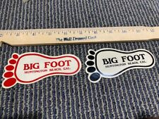 * VINTAGE NOS THE OLDEST NAME IN SKATEBOARDS BIG FOOT STICKERS  2 PCS