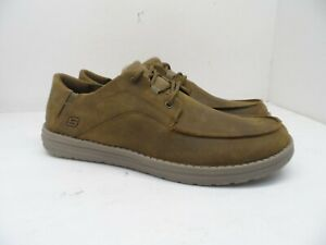 Skechers Men's Classic Fit Memory Foam Insole Lace Up Casual Shoe Brown 12M