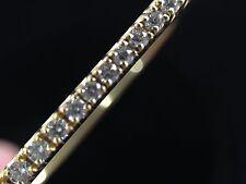 Tiffany & Co 18k Yellow Gold Metro Diamond Bangle Bracelet size small hinged