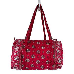 Rare Vera Bradley Collection Retired Red Bandana Duffle Bag