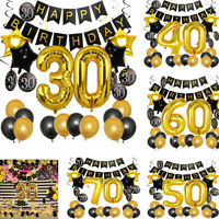 30th 40th 50th 60th 70th Retirement Birthday Decoration Banner Balloon Party