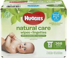 HUGGIES Natural Care Unscented Baby Wipes, Sensitive,  2 Refill Pack 368 Total