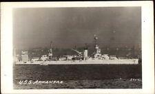 Naval Ship USS Arkansas Real Photo Postcard