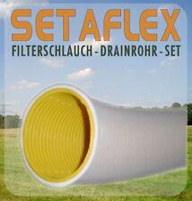 50m Drainagerohr DN 100 gelb gelocht und 50m Filterschlauch F100 - Profiset