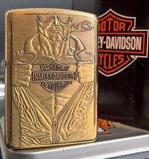 Zippo Harley Davidson MACHO MAN Messing RARITÄT von 1994
