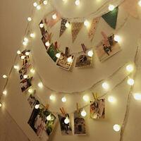 100 LED String Fairy Lights w/Bulbs Christmas Party Wedding Garden Decor 10M
