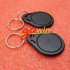 5Pcs 13.56Mhz Black Rfid Sensor Proximity Card Ic Key Tags Keyfobs Keychain
