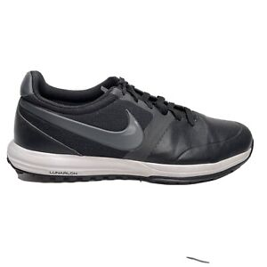 Nike Lunar Mont Royal Golf Cleat Shoes Mens Size 11.5 11 1/2 Black Sneakers