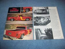 """1974 Chevy C10 Pickup Step Side Custom Chopped Top Vintage Article """"The Fanatic"""""""