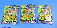 MEGA BLOCKS Teenage Mutant Ninja Turtles Sammelfiguren DMX21 / Serie 1 / 3 Stück