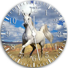 Beautiful White Horse Frameless Borderless Wall Clock Nice For Gifts Decor W47
