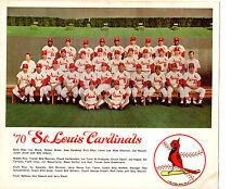 1970 ST. LOUIS CARDINALS 8X10 TEAM PHOTO MISSOURI  BASEBALL BROCK ZELLER SHANNON