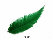 20 Feathers - Kelly Green Mini Spads Ostrich Wing Mardi Gras Halloween 12-18""