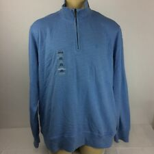 Izod Men's Luxury Sport Long Sleeve 1/4 Zip Pullover Sz. Xl Blue