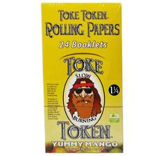 Toke Token 1 1/4 Yummy Mango Flavor Rolling Papers 24 Booklets 576 leaves total