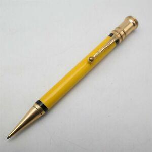 Vtg Parker Duofold SR USA made mechanical pencil Yellow barrel Gold Trim Nice