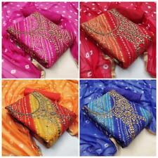 Salwar Kameez Suit Pakistani Indian Shalwar Dress Casual Printed Cotton Designer