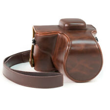 Olympus PEN E-PL7 PU Leather Camera Case Bag With Strap Cover 14-42mm Lens Coffe