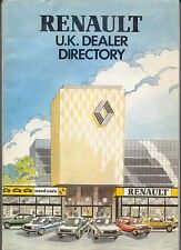 Renault UK Dealer Directory 1981 including road map