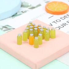 10Pcs Mini 1:12 Dollhouse Miniature Fruit Juice Doll House Drinks Model `