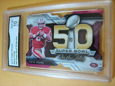 STEVE YOUNG  49ERS 2015 TOPPS CHROME SUPER BOWL 50 DIE-CUT # SY GRADED 10