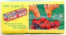 "Vintage ""FREE SAMPLES"" Package Introducing The New ""ZIPLOC BAGS"""